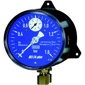Манометр Wika 702.01.100 для измерения дифференциального давления с встроенным индикатором рабочего давления