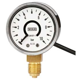 Манометры WIKA PGT10 с трубкой Бурдона и электрическим выходным сигналом
