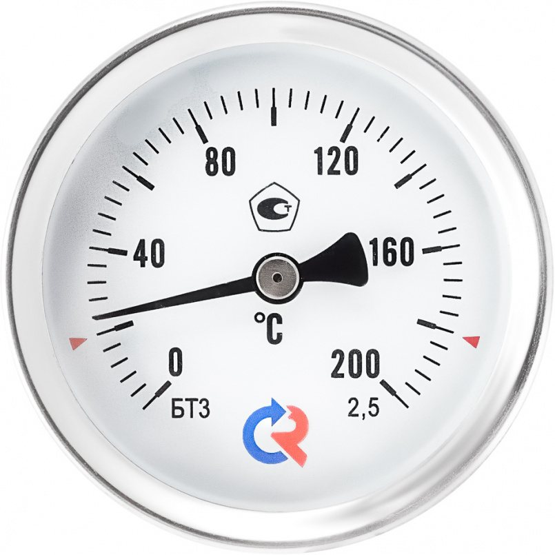 Термометры общетехнические (осевое присоединение), модели БТ-31.211, БТ-41.211, БТ-51.211, БТ-71.211