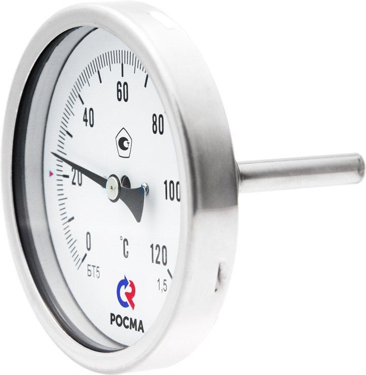 Термометры коррозионностойкие (осевое присоединение), модели БТ-51.220, БТ-71.220