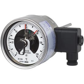 Биметаллические термометры с электроконтактами модель 55