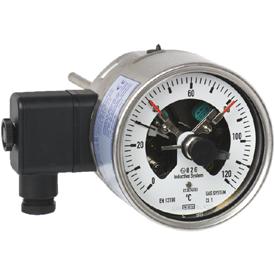 Манометрический термометр с переключающими контактами модель 73