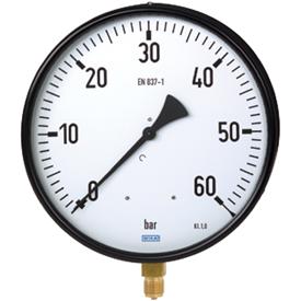Манометр с трубчатой пружиной Промышленное исполнение Измерительная система из медного сплава* Модель 211.11; Измерительная система из CrNi-Стали*Модель 231.11