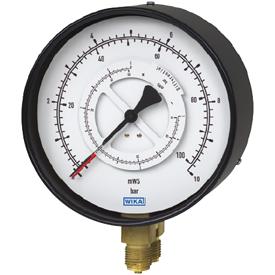 Манометр Wika 711.12, 731.12 для измерения дифференциального давления, параллельные штуцеры