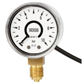Манометры деформационные WIKA PGT11 с трубчатой пружиной и электрическим выходным сигналом