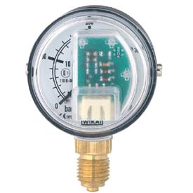 Манометр WIKA PGT15 с трубкой Бурдона и электрическим выходным сигналом