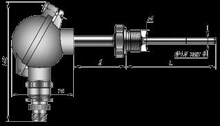 Термопреобразователи сопротивления 109; тип ТСМТ, ТСПТ