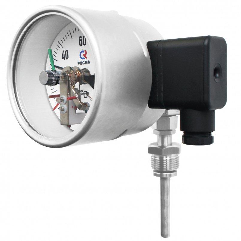 Термометры коррозионностойкие с электроконтактной приставкой (универсальное присоединение), модель  БТ-54.220