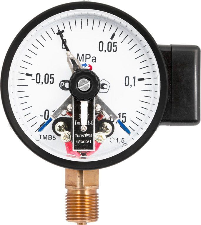 Манометры с электроконтактной приставкой, модели ТМ- 510.05, ТМ- 610.05, ТВ- 510.05, ТВ- 610.05, ТМВ- 510.05, ТМВ- 610.05